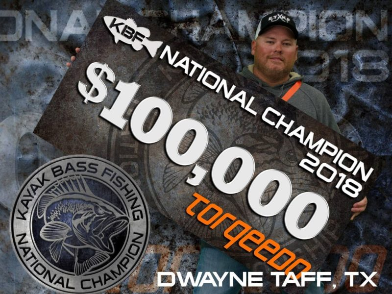 Taff Wins $100K in Kayak Bass Fishing Championship