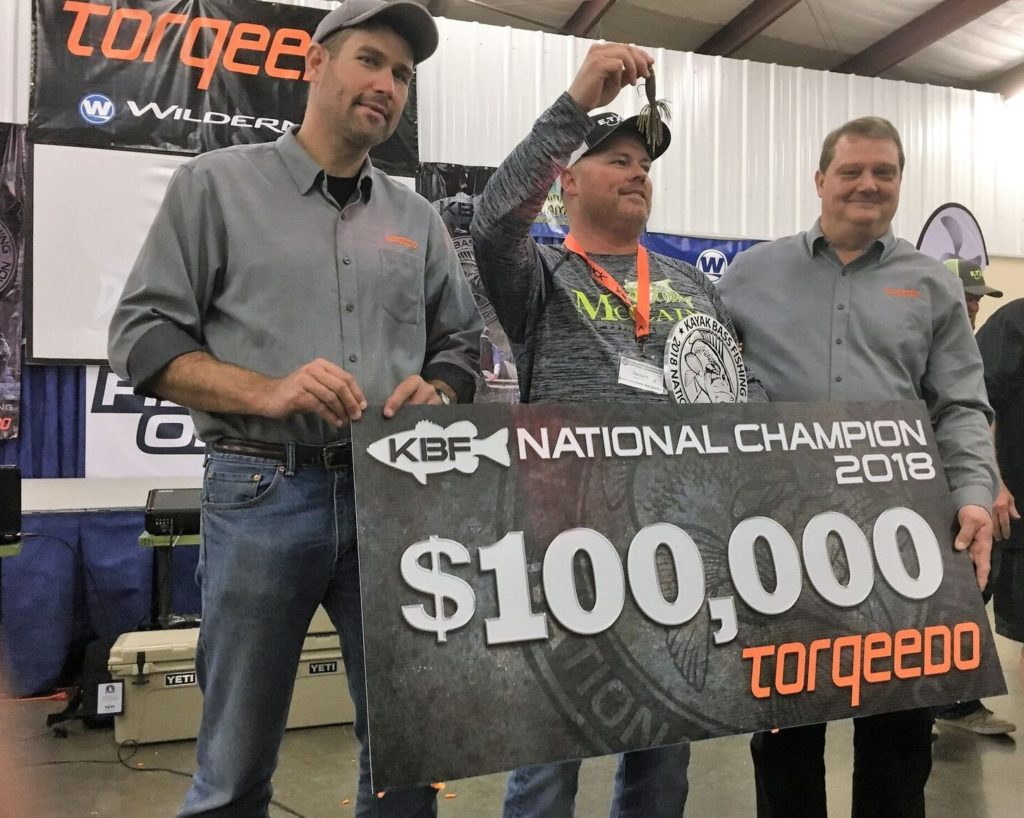 Torqeedo Dwayne Taff Kayak Bass Fishing National Champion 2018  $100K